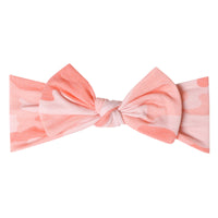 Remi Knit Headband Bow | Copper Pearl