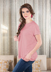 Luxe T-Shirt in Rose