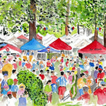 The Grove at Ole Miss Tea Towel - Southern Bird Studio