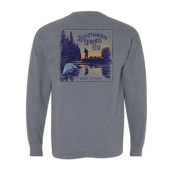 Bass Fishin' Long Sleeve T-Shirt | Southern Fried Cotton