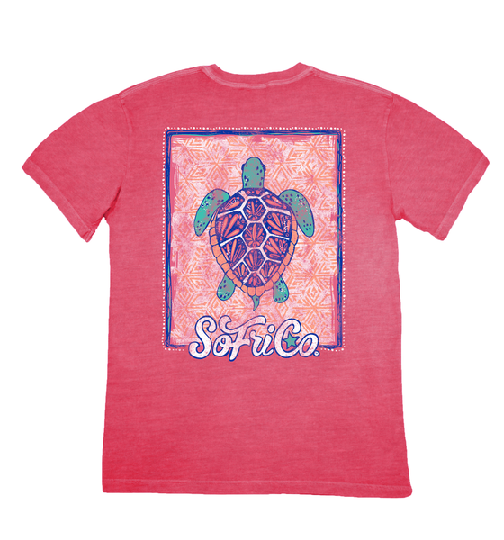 Tribal Turtle Short Sleeve T-Shirt | Southern Fried Cotton