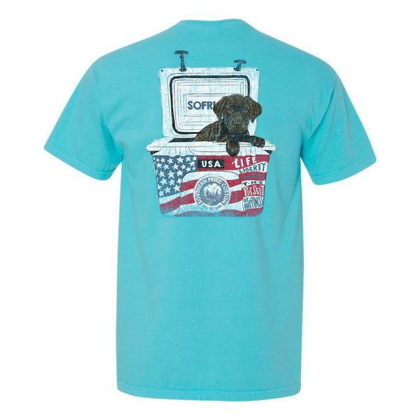 Wrangler USA Puppy in Cooler Short Sleeve T-Shirt | Southern Fried Cotton
