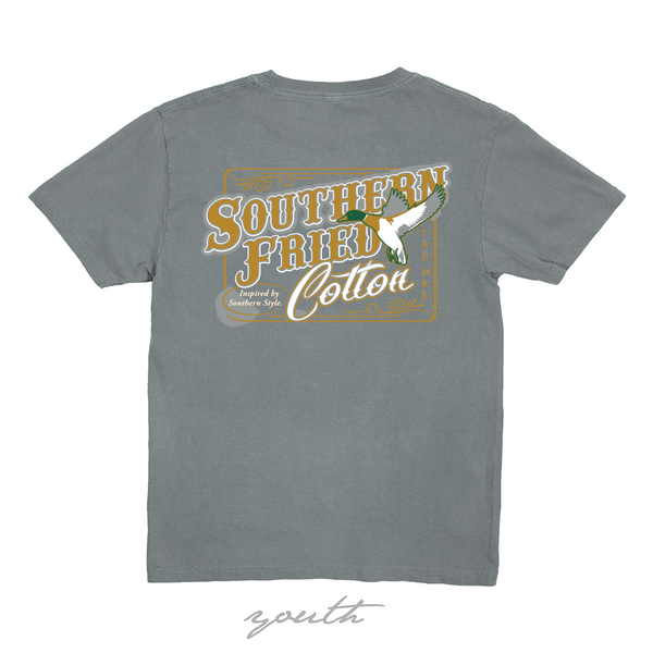 Flying Mallard Youth Short Sleeve T-Shirt | Southern Fried Cotton