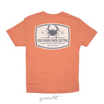 Crab Label Youth Short Sleeve T-Shirt | Southern Fried Cotton