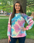 Puppie Love Tie Dye Long Sleeve Lounge Shirt