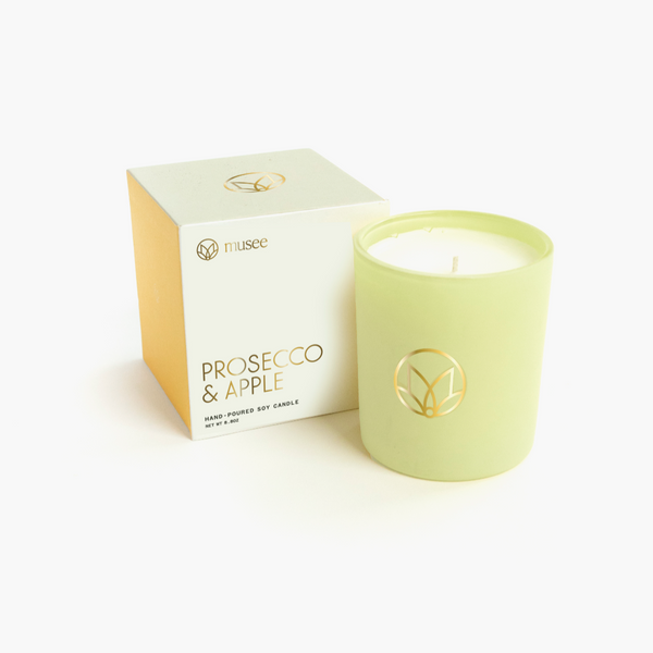 Prosecco & Apple Soy Candle in Gift Box | Musee Bath