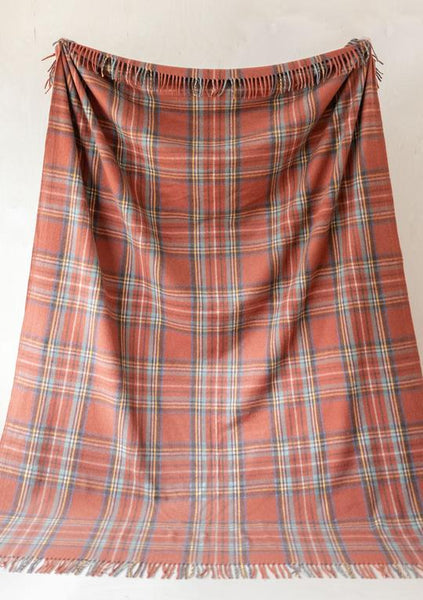 The Tartan Blanket Co. Stewart Royal Antique Tartan Recycled Wool King Size Blanket