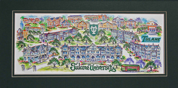 Tulane University Limited Edition Art Print by Linda Theobald