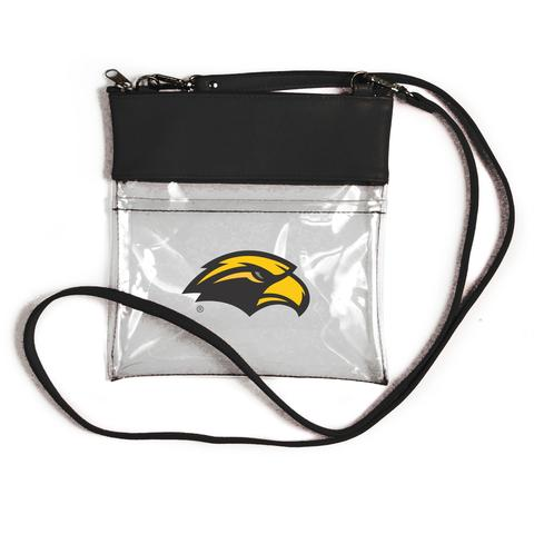 SALE! Southern Miss Clear Gameday Crossbody Purse