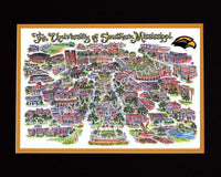 The University of Southern Mississippi Limited Edition Print | Scenes of the South