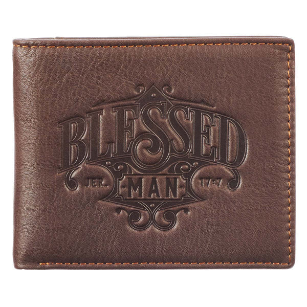 Blessed Man Genuine Leather Bifold Wallet - Jeremiah 17:7