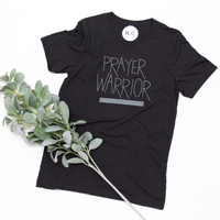 Prayer Warrior T-Shirt in Dark Grey