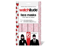 SALE! Hearts Maze Disposable Masks for Teens to Adults 6 Pack