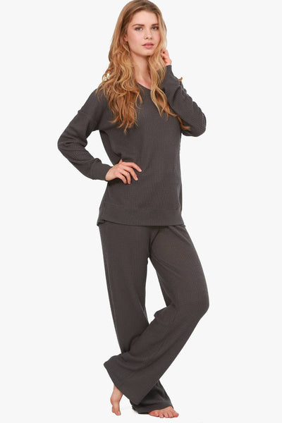 Jones New York Brushed Thermal Knit Lounge Set