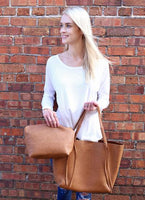 Freeman Tote with Bonus Bag Brown Purse Handbag