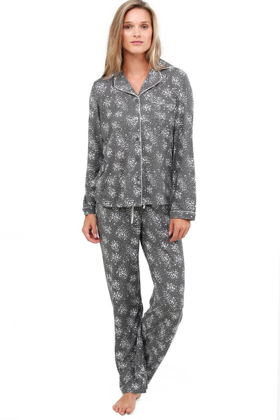 Jones New York Foil Printed Jersey Pajama Set