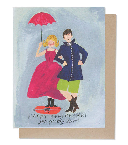 Thimblepress® Quirky Couple Anniversary Greeting Card