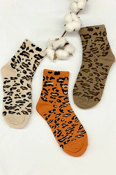 Leopard Printed Ankle Socks