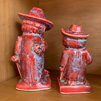 Colonel Reb Figurine Red Blue Gameday Glaze | Singletary Pottery