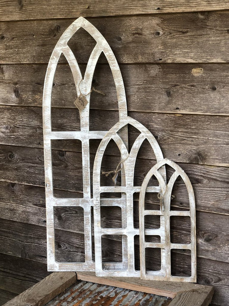 Whitewashed Wooden Arches