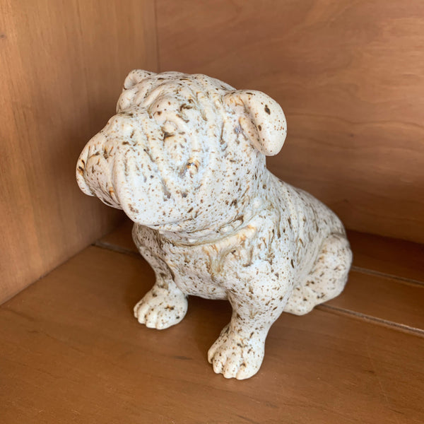 Pottery Bulldog Figurine Farmhouse Glaze | Singletary Pottery
