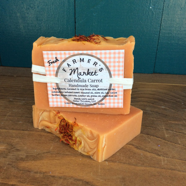 Calendula Carrot Soap Bar Handmade All Natural | Cedar Thicket