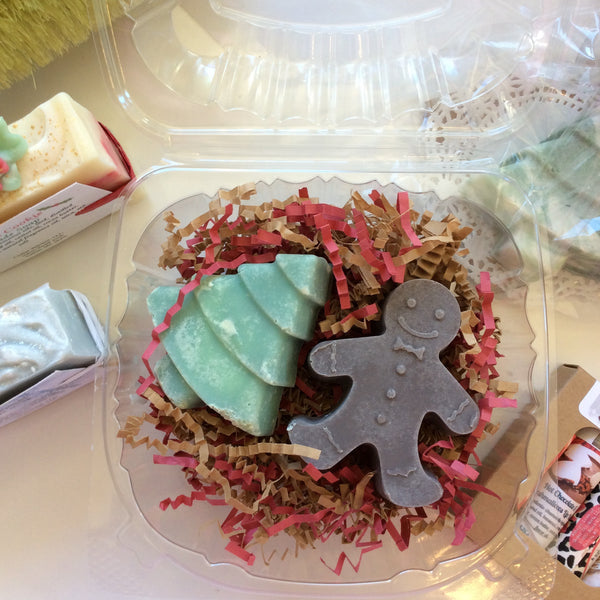 Christmas Soap Set Gingerbread Man and Tree Handmade | Cedar Thicket