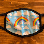 Rainbow Clouds Kids Face Covering