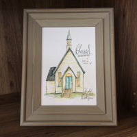 Blessed Assurance Jesus is Mine Chapel | Inspirational Art Print