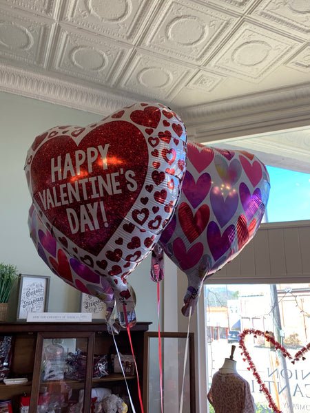 Valentine's Day Inflated Mylar Balloons on String