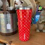 Ole Miss Polka Dot 24oz Corkcicle. Tumbler