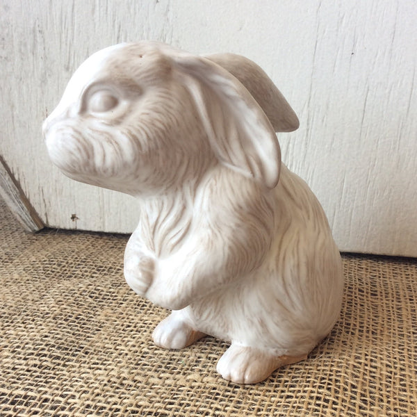 Sitting Rabbit in White by Southern Mud Pottery