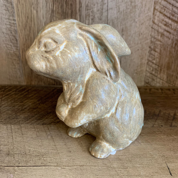 Sitting Rabbit in Antique Brown by Southern Mud Pottery