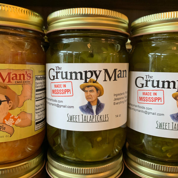 The Grumpy Man Sweet Jalapickles
