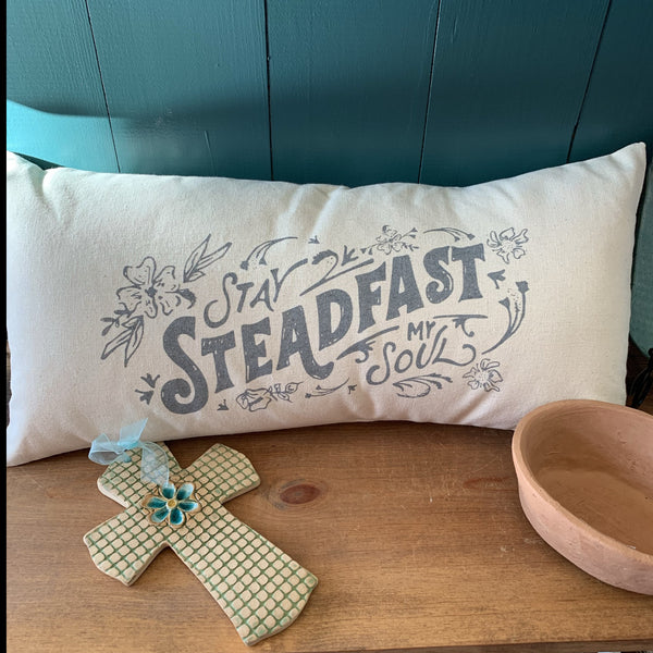Stay Steadfast My Soul 18x8 Canvas Lumbar Pillow
