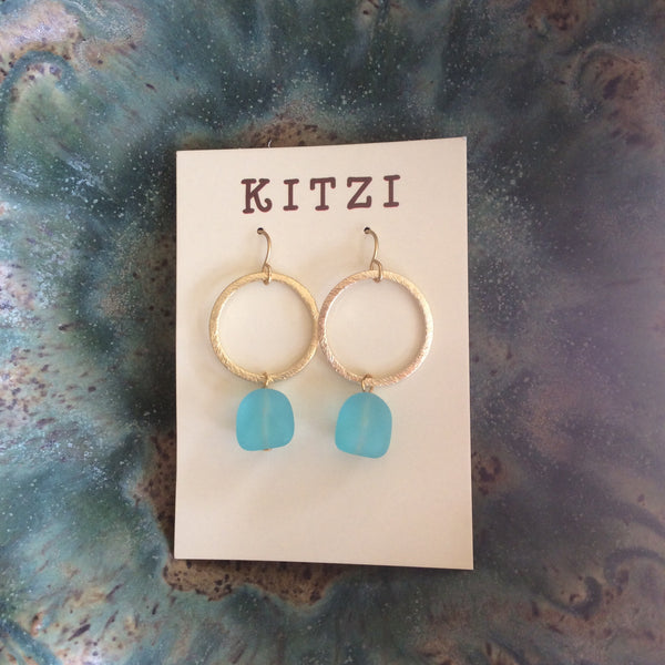 Sea Glass Inspired Dangle Earrings | Kitzi