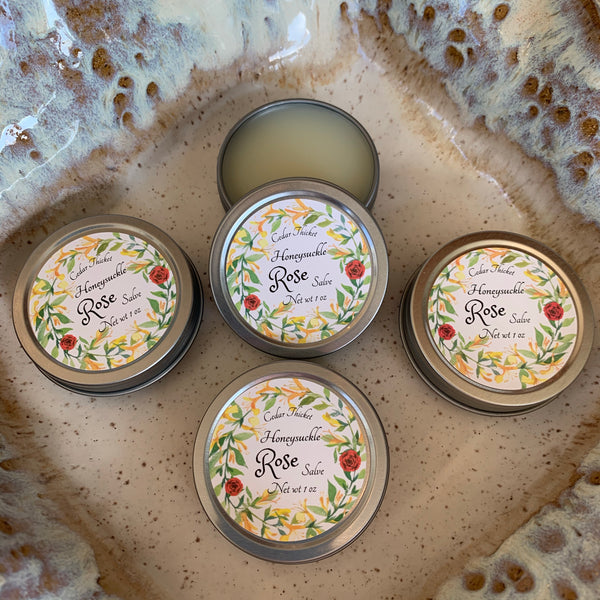 Honeysuckle Rose Salve by Cedar Thicket