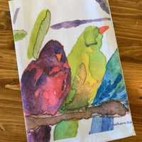 Birds of a Feather Watercolor Print Towel | Southern Bird Studio