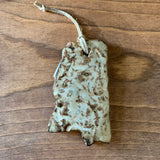 Mississippi Shaped Handcrafted Pottery Ornament - 3.5""