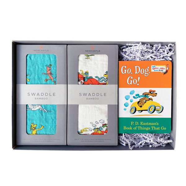Go, Dog. Go! Swaddle Blankets and Book Baby Gift Set