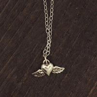 Your Wings Were Ready Sterling Silver Necklace