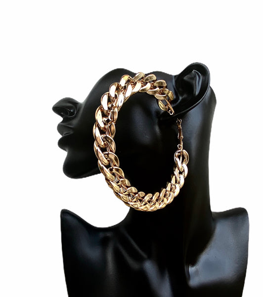 Rich Girls Chain Hoop Earrings