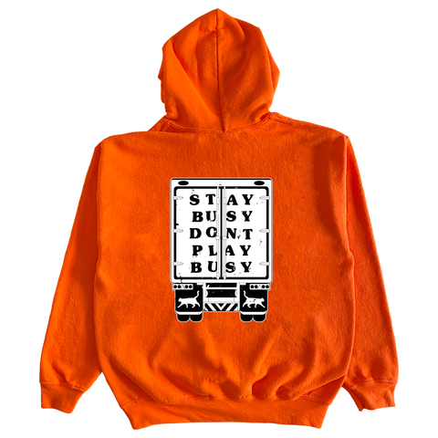 Stay Busy Trucker Hoodie - Safety Orange
