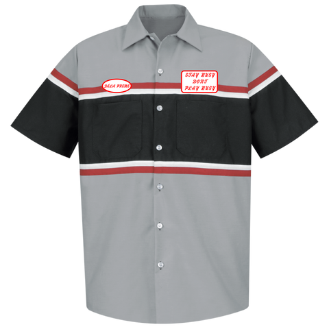 Auto Shop Work Shirt - Grey/Black