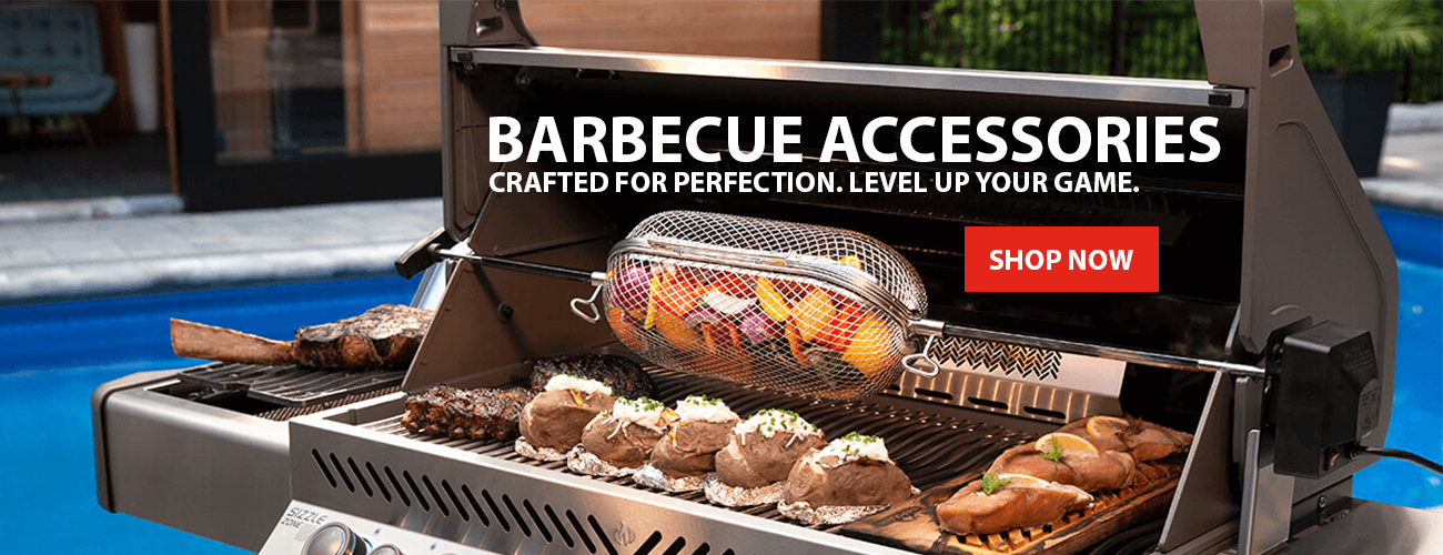 BARBECUE ACCESSORIES. CRAFTED FOR PERFECTION & LEVEL UP YOUR GAME.
