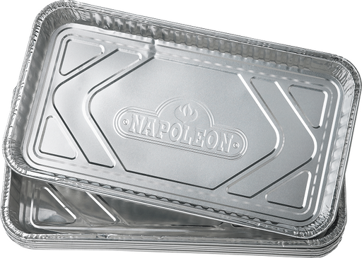 "Napoleon 62008 Large Foil Grease Drip Trays - Pack of 5 (14"" X 8"")"