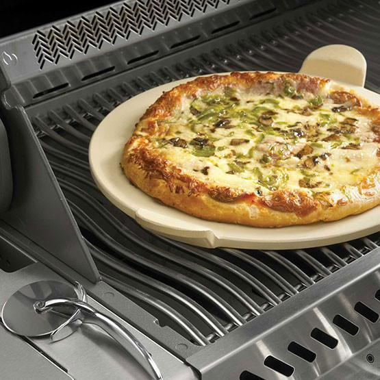 Napoleon 70001 PRO Pizza Stone With Pizza Wheel