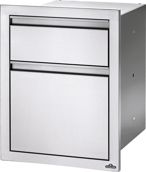 "Napoleon Built-In 18"" X 24"" Double Drawer: Waste Bin & Paper Towel Holder BI-1824-1W"