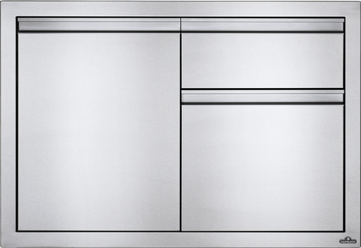 "Napoleon Built-In 36"" X 24"" Single Door & Waste Bin Drawer & Paper Towel Holder Combo BI-3624-1D1W"