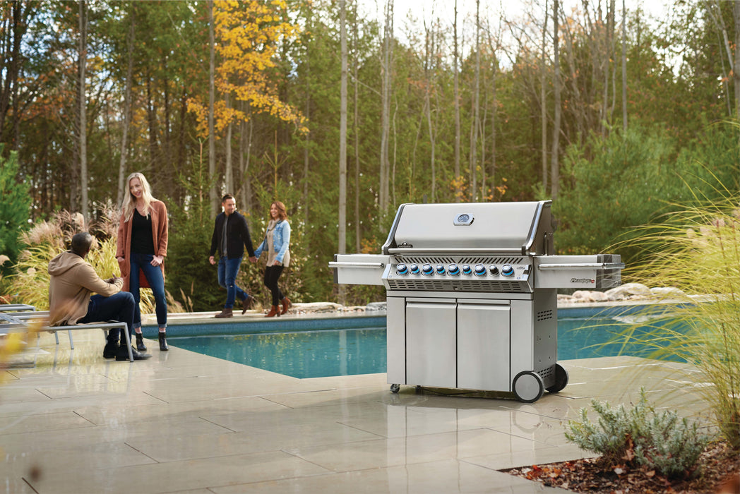 Napoleon Prestige PRO 665 Gas Grill with Infrared Rear & Side Burners PRO665RSIB-3